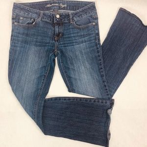American Eagle Womens Jeans 10S Blue Artist Slim